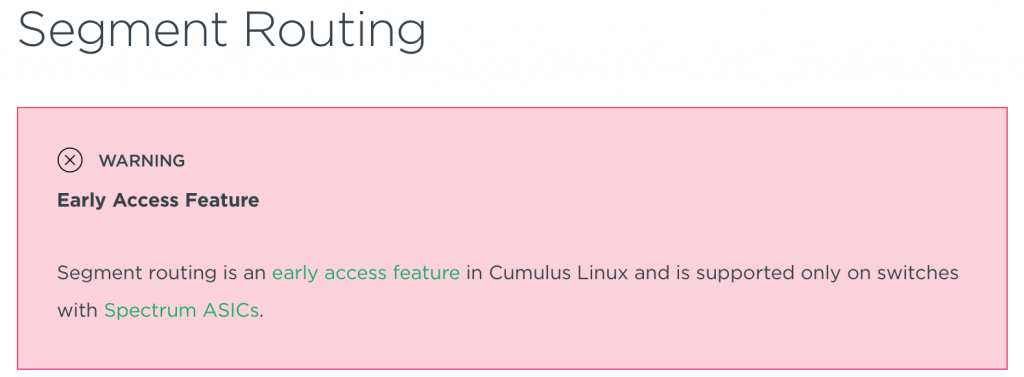 Segment Routing on Cumulus Linux